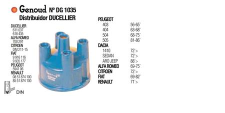 TAPA DISTRIBUIDOR DUCELLIER 404 504 505