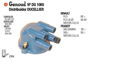 TAPA DISTRIBUIDOR DUCELLIER R-21 505 2.0 2.2