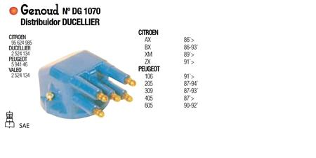 TAPA DISTRIBUIDOR DUCELLIER 106 205 405