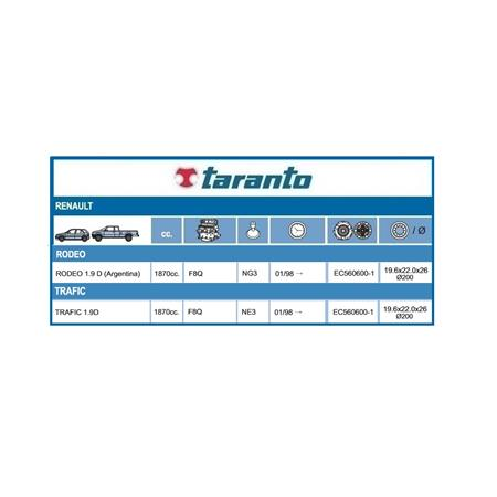 KIT EMBRAGUE TRAFIC RODEO 1.9 F8Q